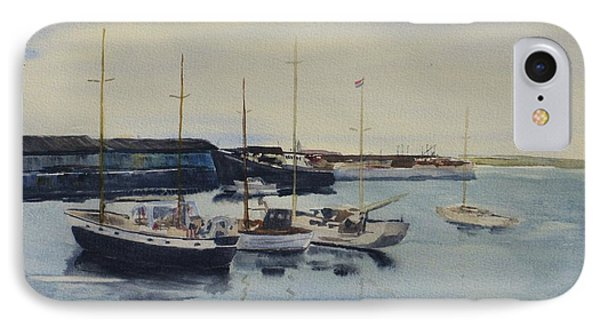 Boats In A Harbour IPhone Case