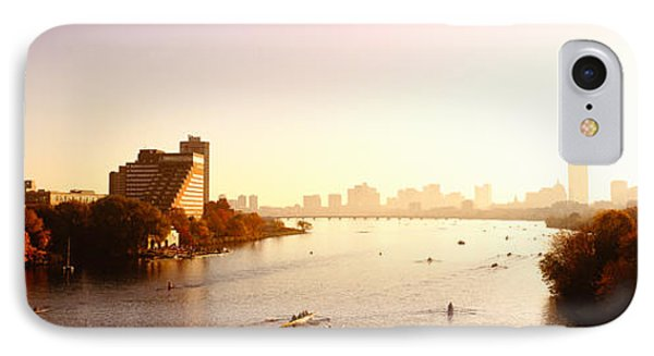 Boats In The River With Cityscape IPhone Case