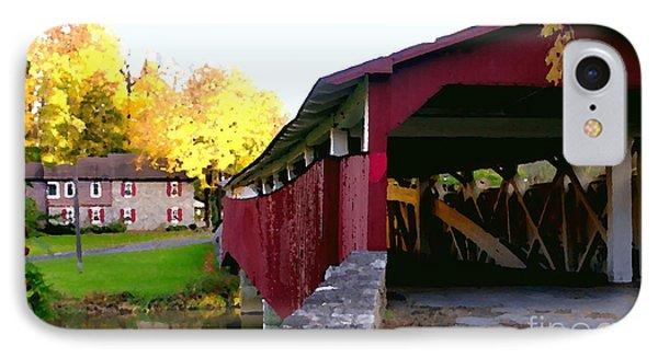 Bogerts Covered Bridge Allentown Pa IPhone Case