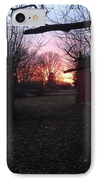 Booth Farm Sunset IPhone Case