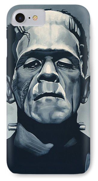 Portraits iPhone 8 Case - Boris Karloff As Frankenstein  by Paul Meijering