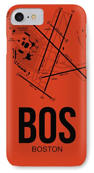 Transportation iPhone 8 Case - Boston Airport Poster 2 by Naxart Studio