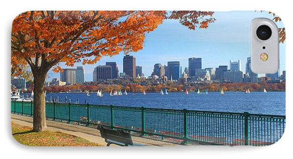 City Scenes iPhone 8 Case - Boston Charles River In Autumn by John Burk