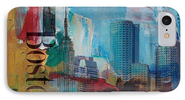 Boston City Collage 3 IPhone Case