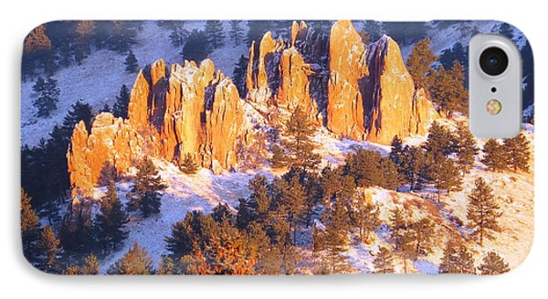Boulder Red Rocks Glowing IPhone Case