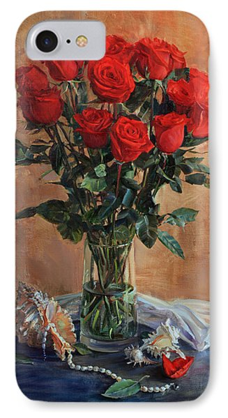 Bouquet Of Red Roses On The Birthday IPhone Case