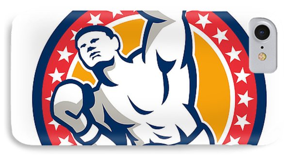 Boxer Boxing Punching Jabbing Retro IPhone Case