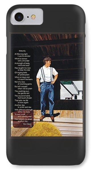 Boy In The Barn / Maturity IPhone Case
