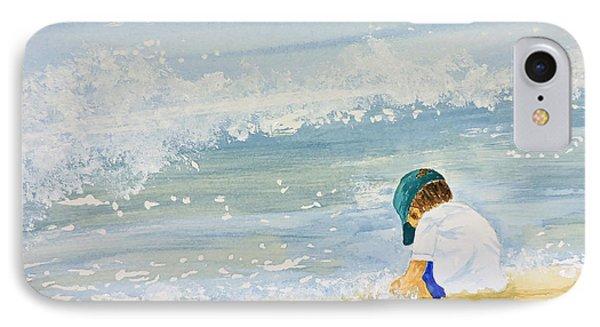 Boy On The Beach IPhone Case