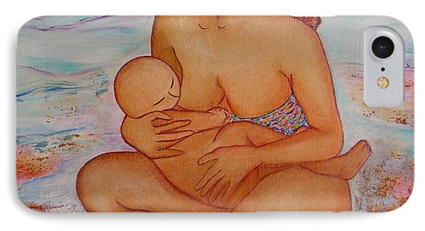 Breastfeeding In Color And Sand IPhone Case
