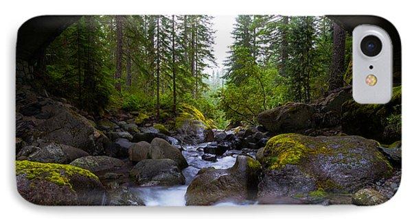 Bridge Below Rainier IPhone Case