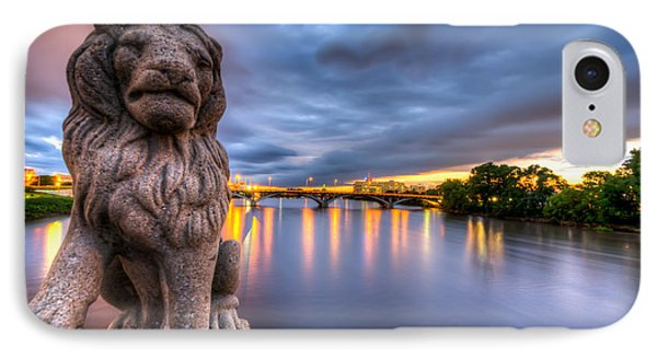 Bridge To Czech Village In Cedar Rapids At Sunset IPhone Case
