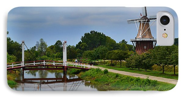 Bridge To Holland Windmill IPhone Case