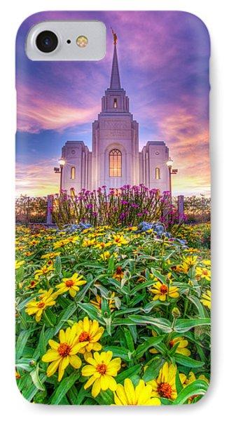 Brigham City Temple IPhone Case