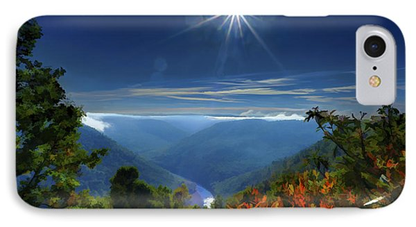 Bright Sun In Morning Cheat River Gorge IPhone Case