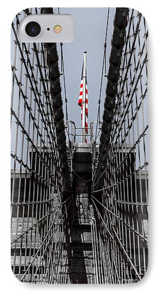 Brooklyn Bridge American Flag IPhone Case