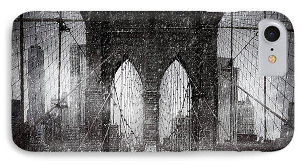 Brooklyn Bridge Snow Day IPhone Case