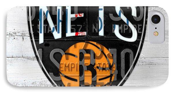 Brooklyn Nets Basketball Team Retro Logo Vintage Recycled New York License Plate Art IPhone Case