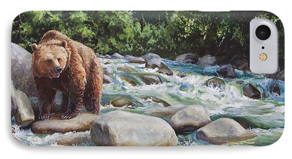 Brown Bear On The Little Susitna River IPhone Case