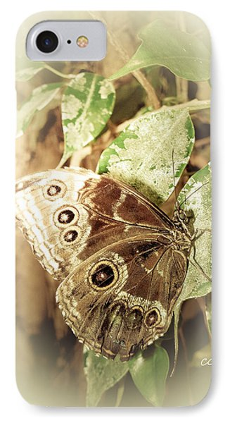 Brown Toned Butterfly IPhone Case
