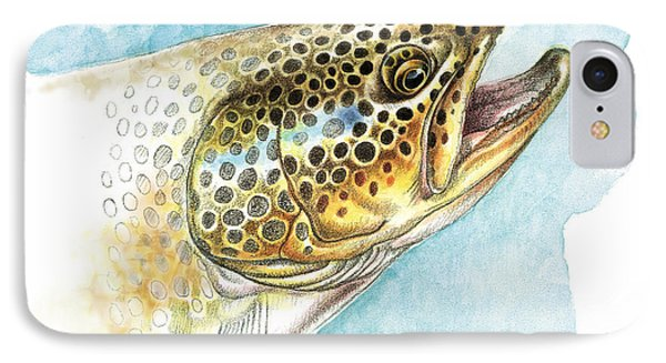 Brown Trout Study IPhone Case