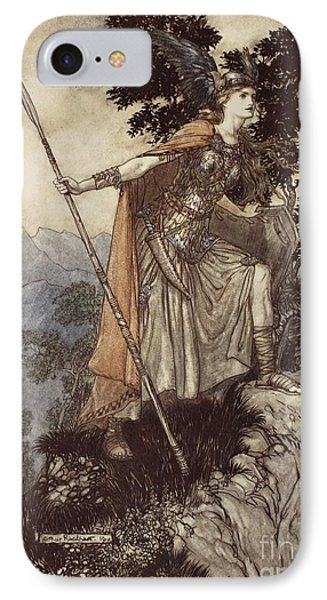 Brunnhilde From The Rhinegold And The Valkyrie IPhone Case