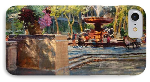 Bryant Park - Afternoon At The Fountain Terrace IPhone Case