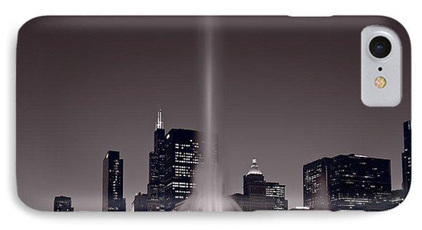 Buckingham Fountain Nightlight Chicago Bw IPhone Case
