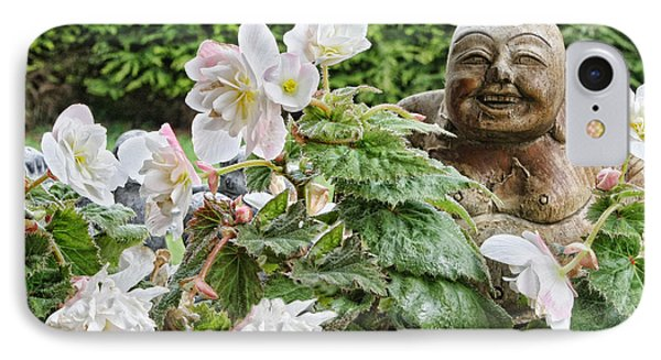 Budda And Begonias IPhone Case