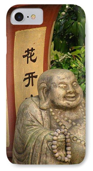 Buddha Statue In The Garden IPhone Case