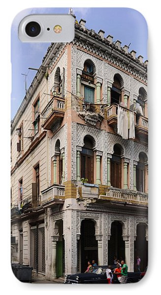 Buildings Along The Street, Havana, Cuba IPhone Case