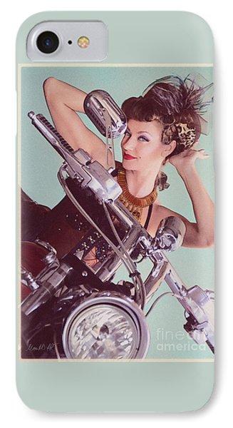 Burlesque Biker -portrait IPhone Case