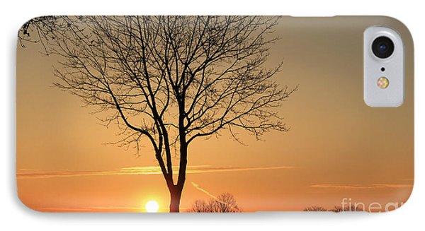 Burning Tree In The Sunrise IPhone Case