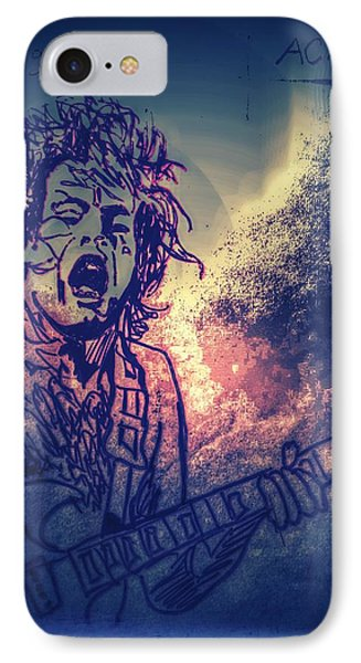 Burst Of Angus Young IPhone Case