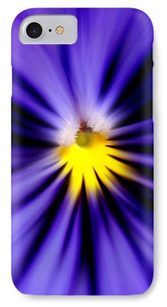 Bursting With Blue Pansy IPhone Case