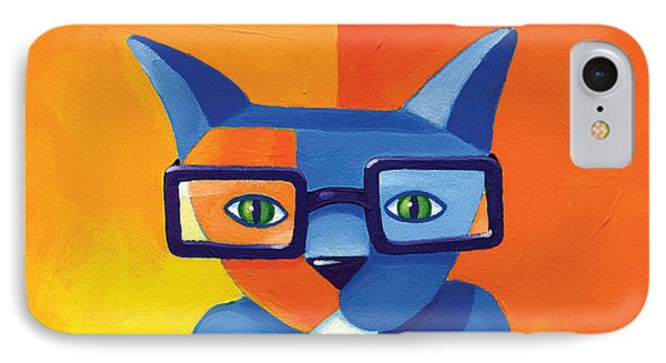 Cat iPhone 8 Case - Business Cat by Mike Lawrence