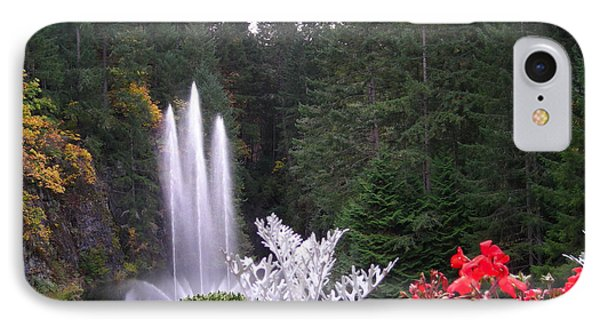 Butchart Gardens Fountain IPhone Case