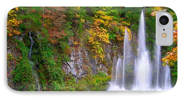 Butchart Waterfall And Fountain-- IPhone Case