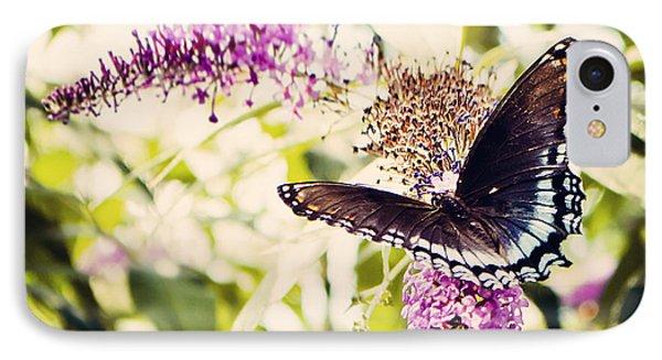 Butterfly On Butterfly Bush IPhone Case