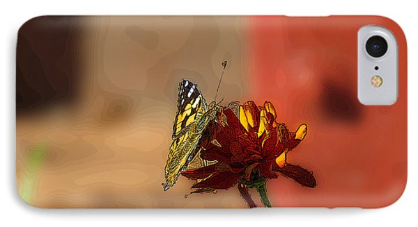 Butterfly On Flower IPhone Case