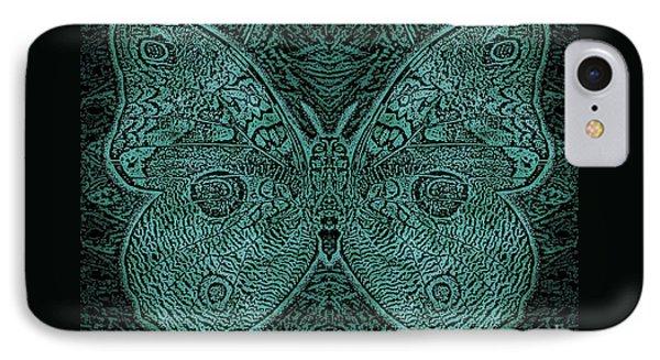 C Moth L3 Wd Midnight Green IPhone Case