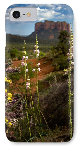 Cactus Flowers And Courthouse Bluff IPhone Case