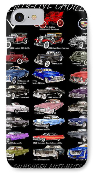 25 Cadillacs In A Poster  IPhone Case