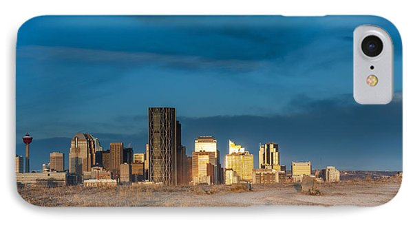 Calgary Skyline Sun Reflections IPhone Case