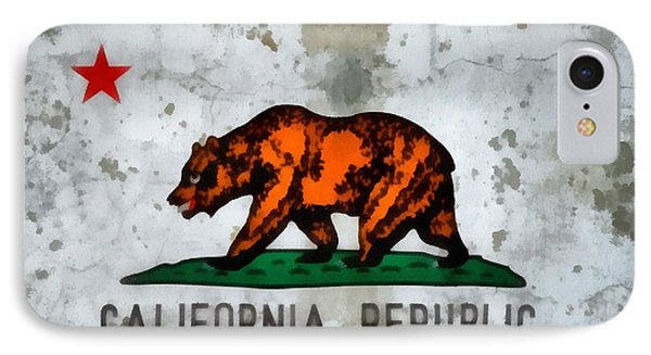 California State Flag Weathered And Worn IPhone Case