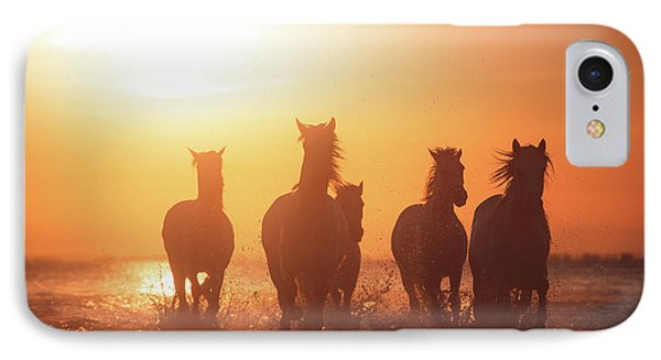 French iPhone 8 Case - Camargue Angels by Rostovskiy Anton
