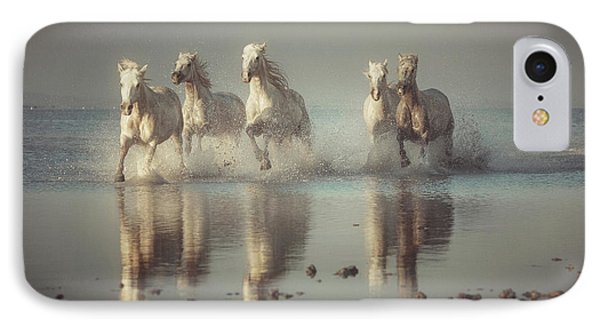 French iPhone 8 Case - Camargue Horses by Rostovskiy Anton