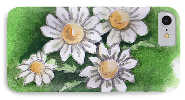 Camomile Flowers IPhone Case