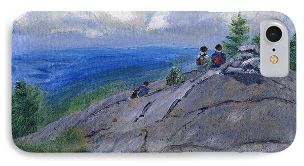 Campers On Mount Percival IPhone Case