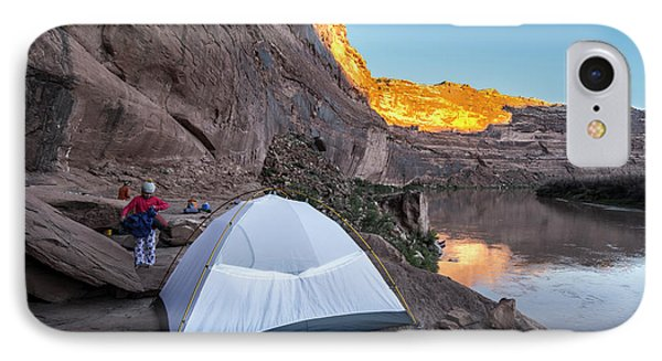 Knit Hat iPhone 8 Case - Camping Along The Labyrinth Canyon by Kennan Harvey
